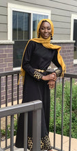Load image into Gallery viewer, Golnessa Black and Gold Dress