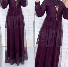 Load image into Gallery viewer, Plum Drop Maxi Dress