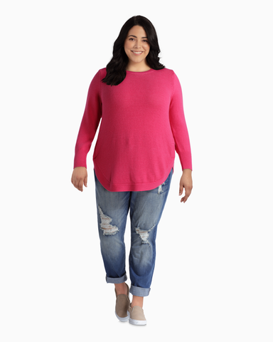Sophie Cotton Sweater | Pink