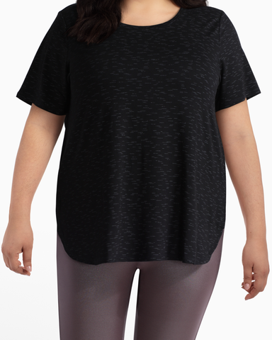 Rosebud High-Low Performance Tee | Black | (Master)
