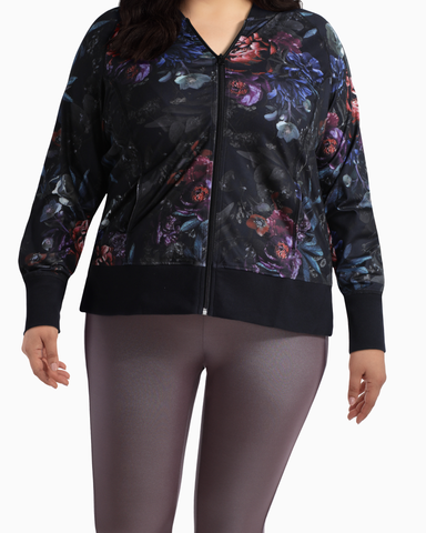 Fairweather Bomber Jacket | Black / Purple | (Master)
