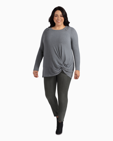 Debbie French Terry Twist Top | Light Grey | (Master)
