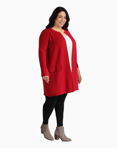 Mandy Tunic Cardigan | Red | (Master)