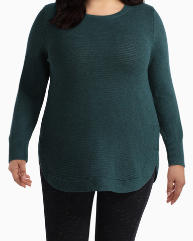 Sophie Cotton Sweater | Forest Green