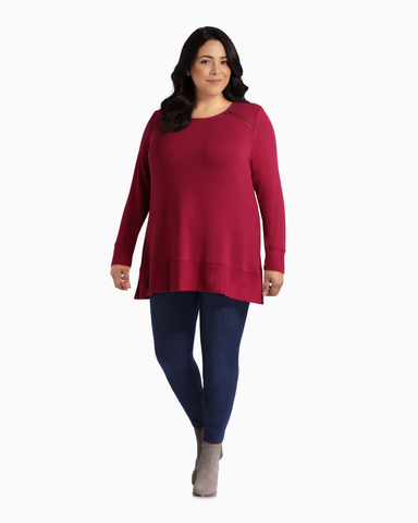 Alanna Zipper Sweatshirt | Burgundy