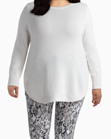 Sophie Cotton Sweater | Ivory