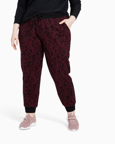 Beekman French Terry Jogger | Burgundy / Black