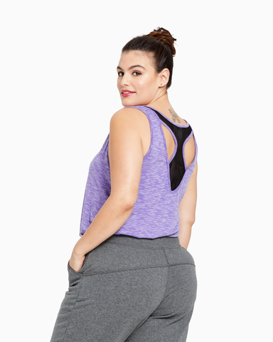 Larkspur Mesh Back Tank | Purple / Black