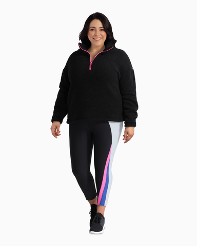 Odyssey Quarter Zip Fleece | Black / Pink | (Master)