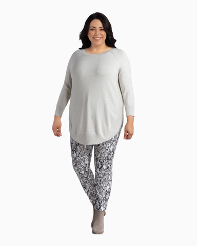 Ruby Rounded Tunic Sweater | Ivory