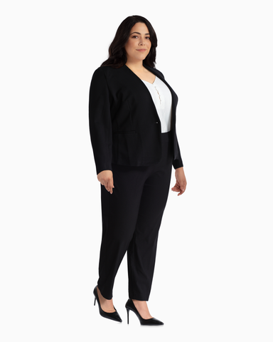 Utopian One-Button Blazer | Black | (Master)