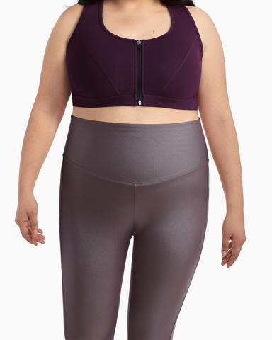Marne Performance Zip Sports Bra | Purple | (Master)
