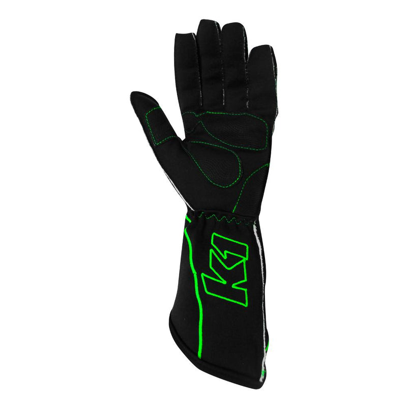 K1 RaceGear RS1 Kart Racing Glove - Green Palm