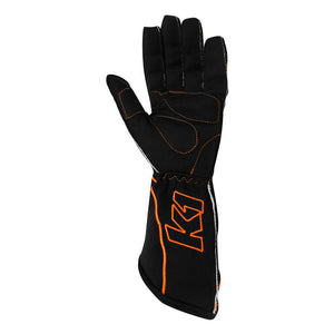 K1 RaceGear RS1 Kart Racing Glove - Orange Palm