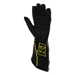 K1 RaceGear RS1 Kart Racing Glove - Yellow Palm
