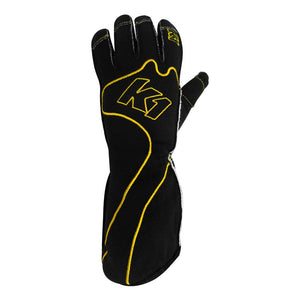 K1 RaceGear RS1 Kart Racing Glove - Yellow