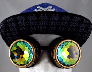 Honeycomb Kaleidoscope Goggles - Assorted Frames