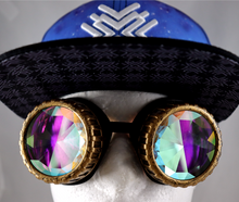 Load image into Gallery viewer, Honeycomb Kaleidoscope Goggles - Vented Frames
