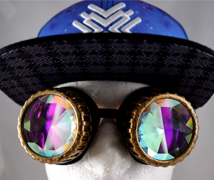 Honeycomb Kaleidoscope Goggles - Vented Frames