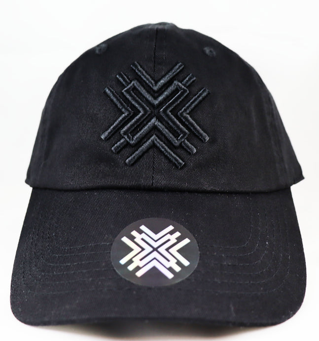 Black Dad Hat - Black Logo