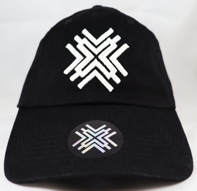 Black Dad Hat - White Logo
