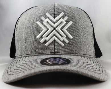 Grey Mesh Hat - White Logo