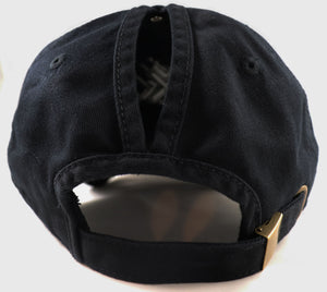 Ponytail Hat - Black Logo