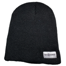 Load image into Gallery viewer, Black Beanie - White Logo