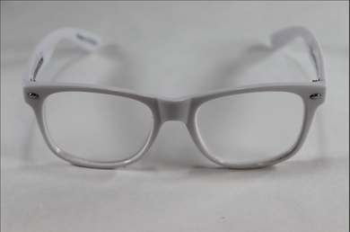 Wayfarer Single Diffraction Glasses - White