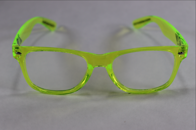 Wayfarer Spiral Diffraction Glasses - Translucent Green