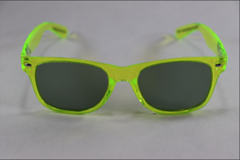 Load image into Gallery viewer, Wayfarer Shaded Diffraction Glasses - Translucent Green