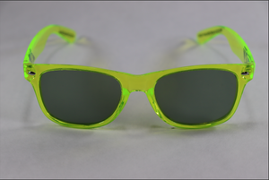 Wayfarer Shaded Diffraction Glasses - Translucent Green