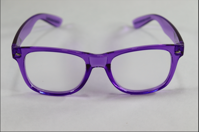 Wayfarer Single Diffraction Glasses - Purple