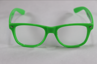 Wayfarer Single Diffraction Glasses - Green
