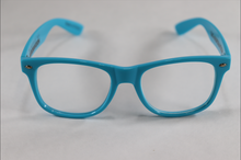Load image into Gallery viewer, Wayfarer Spiral Diffraction Glasses - Blue