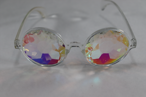 Rose Kaleidoscope Glasses - Clear Frame