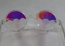 Load image into Gallery viewer, Rose Kaleidoscope Glasses - Clear Frame