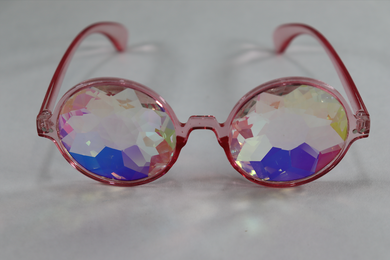 Rose Kaleidoscope Glasses - Pink Frame