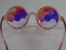 Load image into Gallery viewer, Rose Kaleidoscope Glasses - Pink Frame