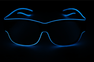 Light Up Glasses - USB Battery - Blue