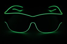 Load image into Gallery viewer, Light Up Glasses - USB Battery - Green