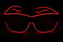 Load image into Gallery viewer, Light Up Glasses - USB Battery - Red