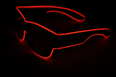 Light Up Glasses - USB Battery - Red