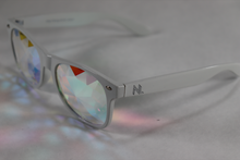 Load image into Gallery viewer, Diamond - Wayfarer Kaleidoscope Glasses - White Frame