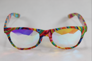Diamond - Wayfarer Kaleidoscope Glasses - TieDye Frame