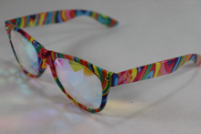 Load image into Gallery viewer, Diamond - Wayfarer Kaleidoscope Glasses - TieDye Frame