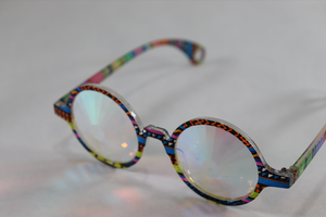 Portal - Round Kaleidoscope Glasses - Tribal Frame