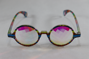 Pane - Round Kaleidoscope Glasses - Tribal Frame