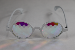 Pane - Round Kaleidoscope Glasses - White Frame