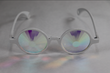Load image into Gallery viewer, Portal - Round Kaleidoscope Glasses - White Frame